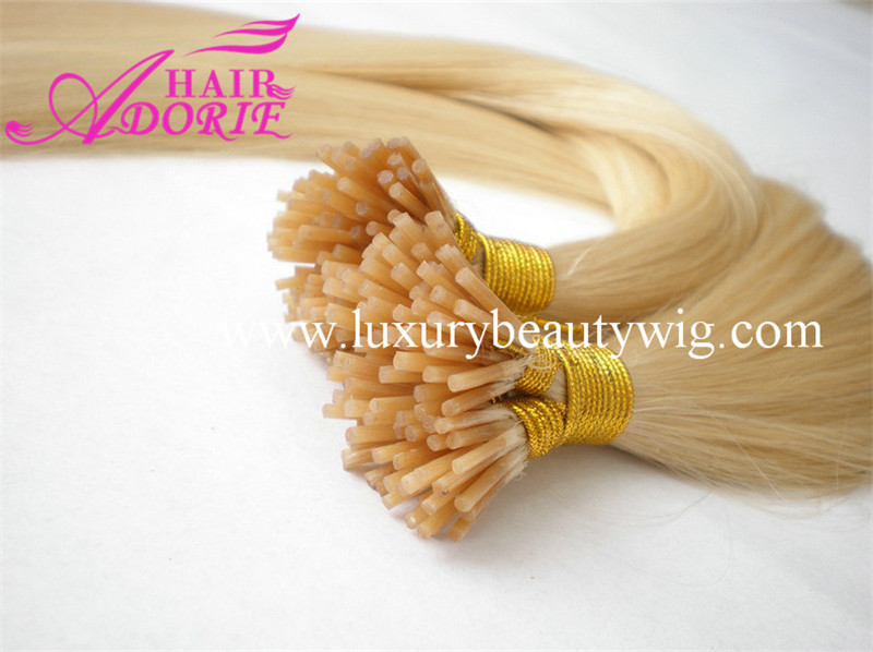 Gorgeous 100%Human Hair Blonde I-Tip/Stick hair