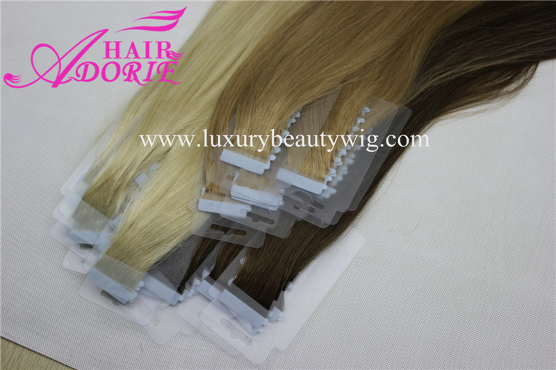 Large Stock Various Colors  Human Hair Tape Hair Extension