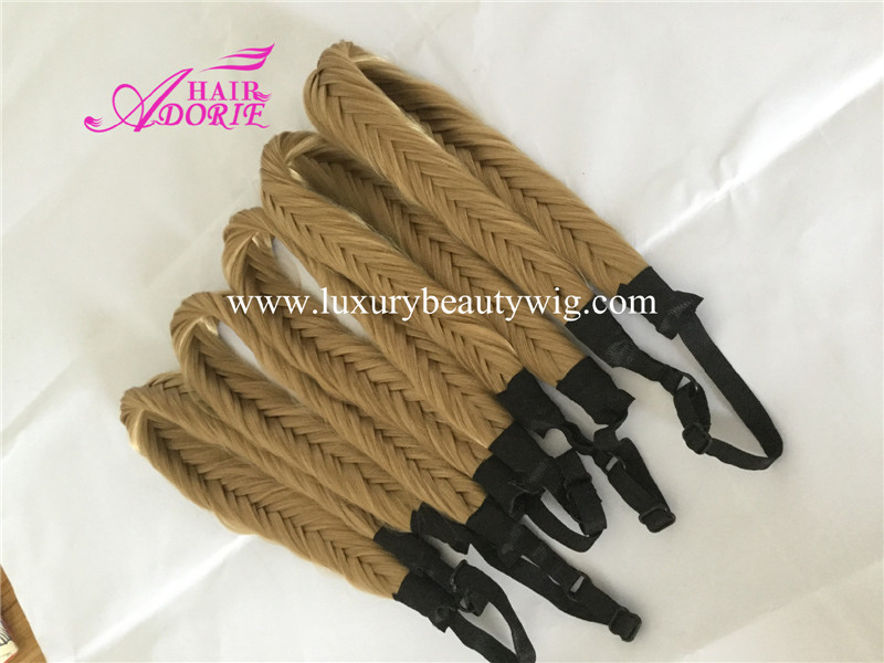 Blonde synthetic braid hair accessories