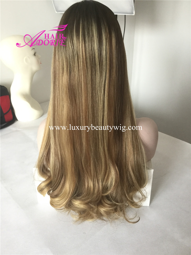 26inch 8/16/24# hand tied long wig