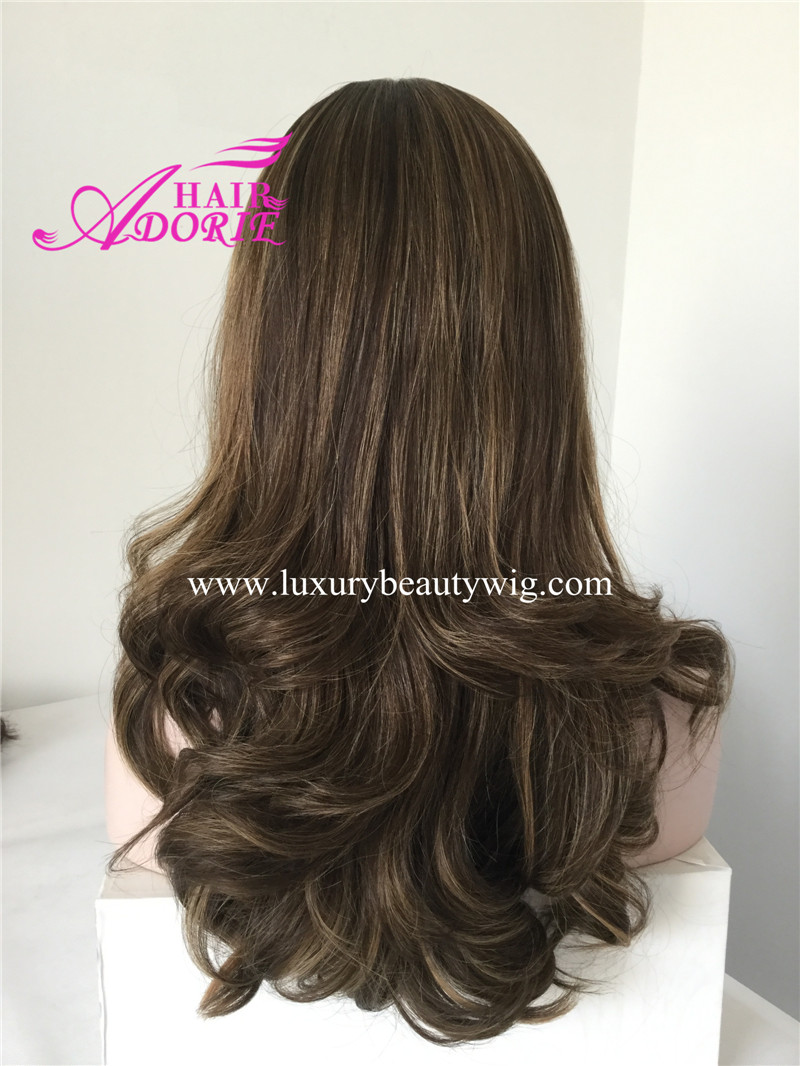 20inch 5/10A# small layer kosher wig